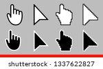 8 black and white arrow pixel... | Shutterstock .eps vector #1337622827