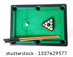 old billiard toy isolated on... | Shutterstock . vector #1337629577