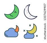 moonlight vector icon set | Shutterstock .eps vector #1337629907