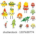 illustration set of fast food... | Shutterstock . vector #1337630774