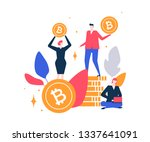 cryptocurrency concept   flat... | Shutterstock .eps vector #1337641091