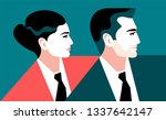 business team. businessman and... | Shutterstock .eps vector #1337642147