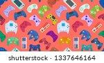 video game controller... | Shutterstock . vector #1337646164