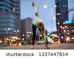 female runner stretching before ... | Shutterstock . vector #1337647814