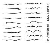 hand drawn underline set... | Shutterstock .eps vector #1337658464