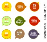 sale quality badges. round... | Shutterstock .eps vector #1337684774