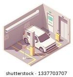 vector isometric underground... | Shutterstock .eps vector #1337703707