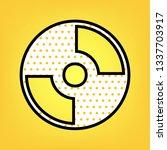 cd or dvd sign. vector. yellow... | Shutterstock .eps vector #1337703917