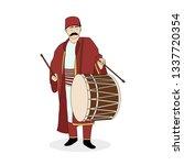 ramadan drummer  drum  ramadan  ... | Shutterstock .eps vector #1337720354