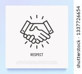 respect thin line icon ... | Shutterstock .eps vector #1337726654
