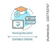 Nurse Education Concept Icon....