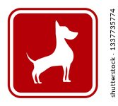 friendly dogs  signs humorous... | Shutterstock .eps vector #1337735774