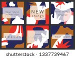 abstract art background for... | Shutterstock .eps vector #1337739467