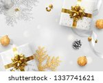 christmas  background. creative ... | Shutterstock . vector #1337741621