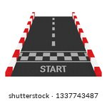 rally races line track or road... | Shutterstock .eps vector #1337743487