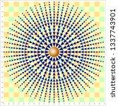 gravity field lines    Shutterstock .eps vector #1337743901