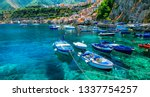 beautiful sea and places of... | Shutterstock . vector #1337754257