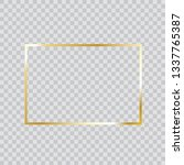 gold frame vector. trendy...   Shutterstock .eps vector #1337765387