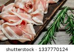 raw bacon with fragrant... | Shutterstock . vector #1337770124