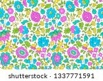 summer floral repeat design ... | Shutterstock . vector #1337771591