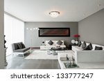 interior design  living room | Shutterstock . vector #133777247
