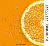 orange fruit with water drops...