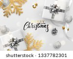 christmas background. festive... | Shutterstock . vector #1337782301