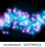 old retro 80 style of equalizer ... | Shutterstock .eps vector #1337784221