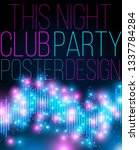 club night party vertical... | Shutterstock .eps vector #1337784284