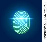 finger print scanning... | Shutterstock . vector #1337794697