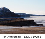 mountain and cliffs in winter ... | Shutterstock . vector #1337819261