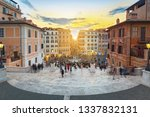 the spanish steps in rome at...   Shutterstock . vector #1337832131