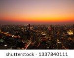 aerial view cityscape bangkok... | Shutterstock . vector #1337840111