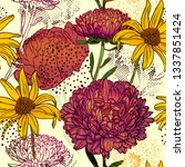 floral background. seamless... | Shutterstock .eps vector #1337851424