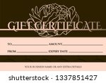 voucher template with pink gold ... | Shutterstock .eps vector #1337851427