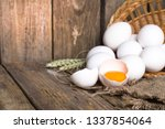 White Eggs From The Basket And...