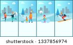 wintertime placards and text... | Shutterstock . vector #1337856974