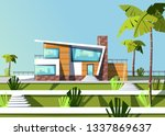 luxury expensive villa house... | Shutterstock .eps vector #1337869637