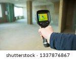 thermal imaging camera... | Shutterstock . vector #1337876867