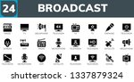 broadcast icon set. 24 filled... | Shutterstock .eps vector #1337879324