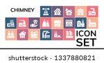 chimney icon set. 19 filled... | Shutterstock .eps vector #1337880821