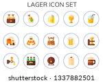 lager icon set. 15 flat lager...   Shutterstock .eps vector #1337882501