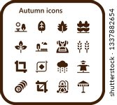 autumn icon set. 16 filled... | Shutterstock .eps vector #1337882654