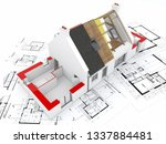 3d Rendering Of A House Under...