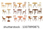 table and chair set | Shutterstock .eps vector #1337890871