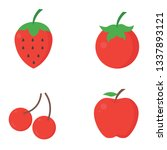 set of fruit icons. vector... | Shutterstock .eps vector #1337893121