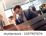 successful businessman working... | Shutterstock . vector #1337907074