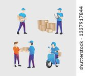 shipping courier. business e... | Shutterstock .eps vector #1337917844