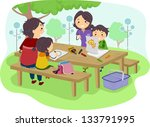 illustration of a family with... | Shutterstock .eps vector #133791995