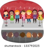 Illustration Of Kids Singing O...